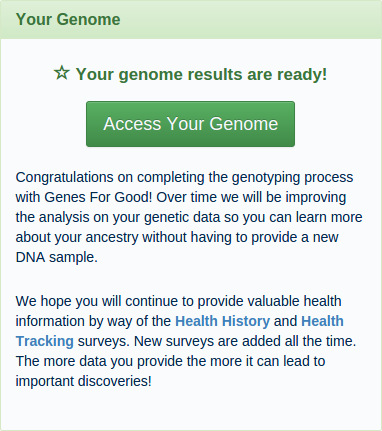 Your Genome Results Are Ready